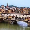 Ponte Vecchio From Uffizi by Jennie Breeze