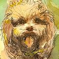 Poodle-watercolor by Gordon Punt