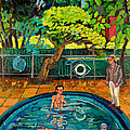 Pool At Upsal Gardens by Doris  Lane Grey
