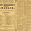 Poor Richards Penny Almanack, 1852 by Photo Researchers