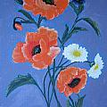 Poppies And Daisies by Berta Barocio-Sullivan