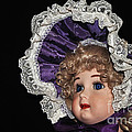 Porcelain Doll - Head And Bonnet by Kaye Menner