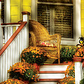 Porch - Westifeld Nj - In The Light Of Autumn by Mike Savad