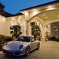 Porsche Parked At Mansion by Roberto Westbrook