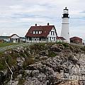 Portland Head Light Cape Elizabeth Fort Williams Maine by Thomas Marchessault
