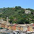 Portofino Hillside by Corinne Rhode