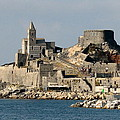 Portovenere's Church And Fortress by Carla Parris