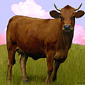 Portrait Of A Cow by Snake Jagger