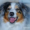 Portrait Of A Dog Lady by Jutta Maria Pusl
