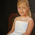 Portrait Of A Girl by Katalin Luczay