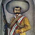 Portrait Of A Zapatista by Granger