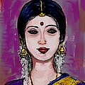 Portrait Of An Indian Woman by Usha Shantharam