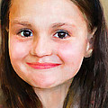 Portrait Of Lida by Yury Malkov