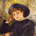 Portrait Of Mademoiselle Demarsy by Pierre Auguste Renoir