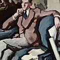 Portrait Of Willie Peploe by Samuel John Peploe