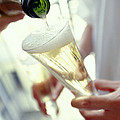 Pouring Champagne by David Munns