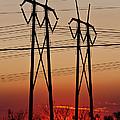 Power Towers At Sundown by Ed Gleichman
