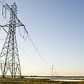 Powerlines Jepson Prairie Preserve by Sebastian Kennerknecht