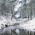 Powerscourt Waterfall In Winter, County by The Irish Image Collection