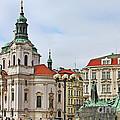 Prague - St Nicholas Church Old Town Square by Christine Till