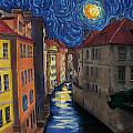Prague By Moonlight by Jo-Anne Gazo-McKim