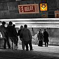 Prague Underground Station Stairs by Stelios Kleanthous