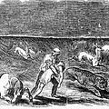 Prairie Fire, 1844 by Granger