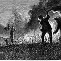 Prairie Fire, 1874 by Granger