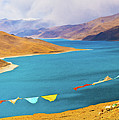 Prayer Flags By Yamdok Yumtso Lake, Tibet by Feng Wei Photography