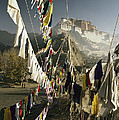 Prayer Flags Hang In The Breeze by Gordon Wiltsie