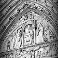 Prayers At Notre Dame - Black And White by Carol Groenen