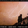 Praying Monk Camelback Mountain Lightning Monsoon Storm Image Tx by James BO  Insogna