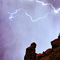 Praying Monk Camelback Mountain Paradise Valley Lightning  Storm by James BO  Insogna