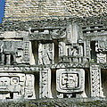 Pre-columbian Stone Ruin With Relief by Barry Tessman