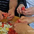 Preparing Salad by Sami Sarkis