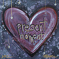 Present Moment Heart by Laurie Maves ART