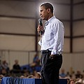 President Barack Obama At A Town Hall by Everett