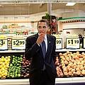 President Barack Obama Eats A Peach by Everett