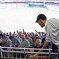 President Barack Obama Greets Baseball by Everett