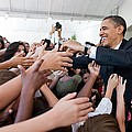 President Barack Obama Greets Young by Everett