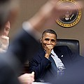 President Barack Obama Laughs by Everett