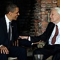 President Barack Obama Meets With Rev by Everett