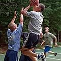 President Barack Obama Plays Basketball by Everett