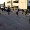 President Barack Obama Shoots Hoops by Everett