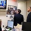 President Barack Obama Watches Msnbc by Everett