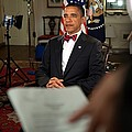 President Barack Obama Wearing A Bow by Everett