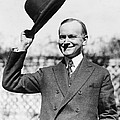 President Calvin Coolidge Tips Is Hat by International  Images