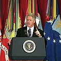 President Clinton Delivers An by Everett