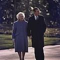 President George And Barbara Bush Take by Everett
