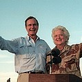 President George Bush And Barbara Bush by Everett